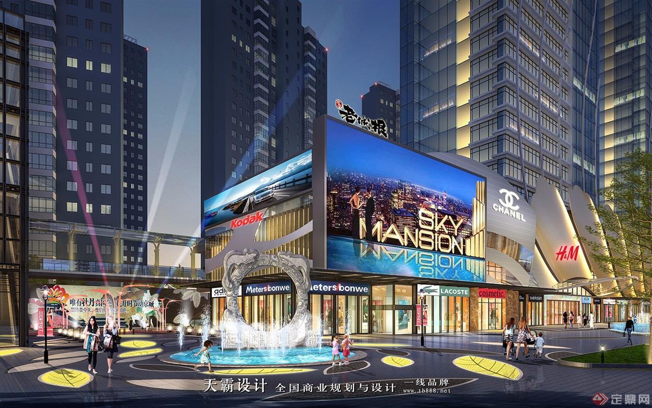 城市综合体设计效果图:河南洛阳老城根-近景2