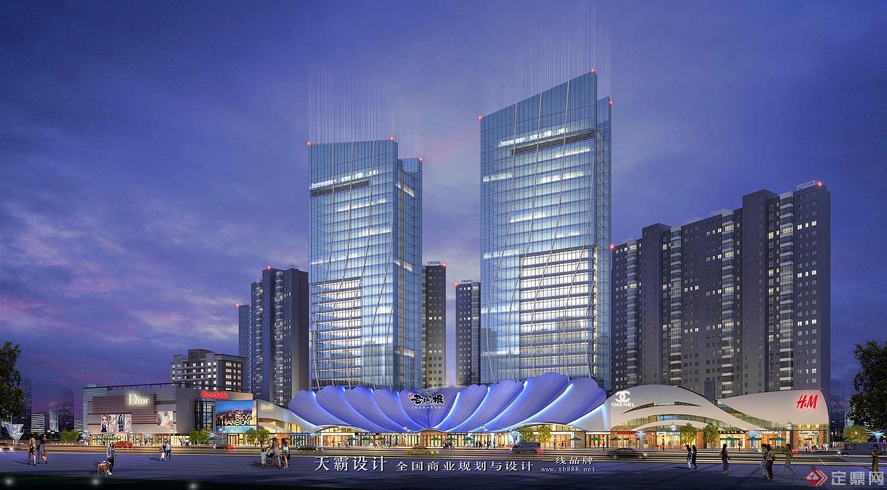 城市综合体设计效果图:河南洛阳老城根-外观1