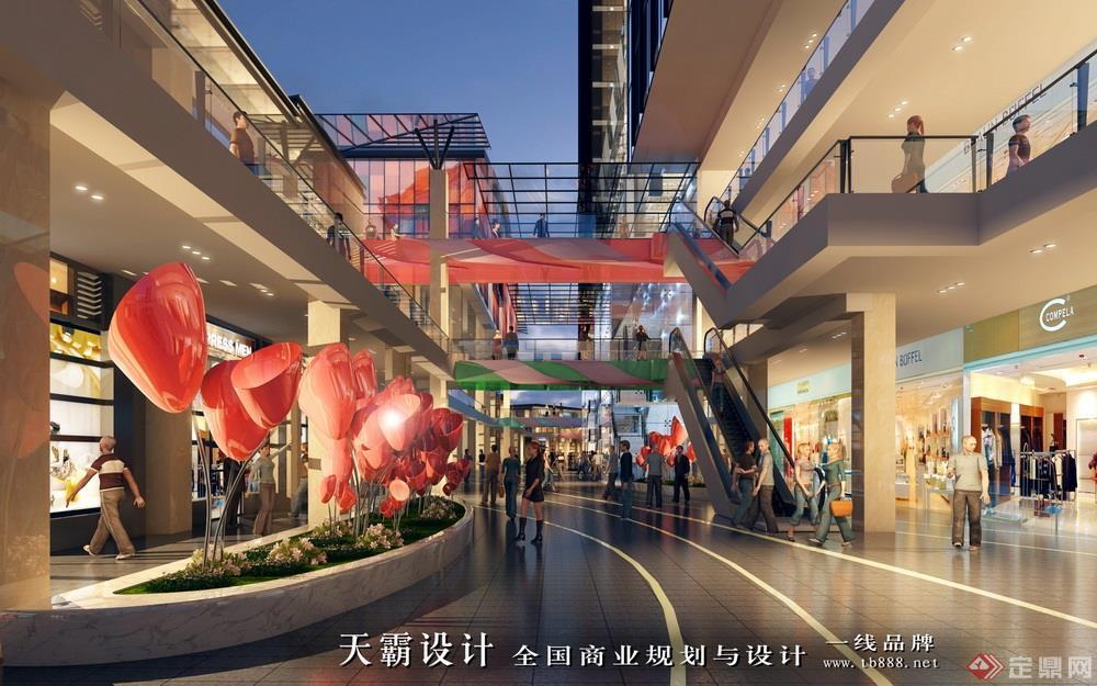 河南洛阳老城根步行街设计效果图片