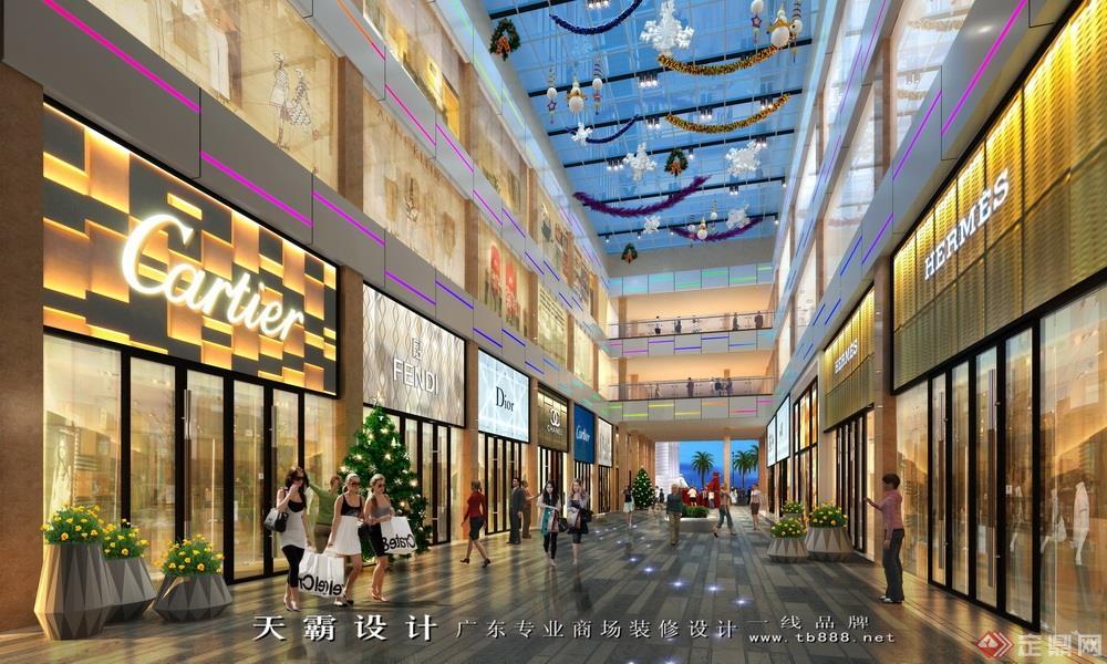 商业街设计效果图案例:南海百货步行街设计效果图