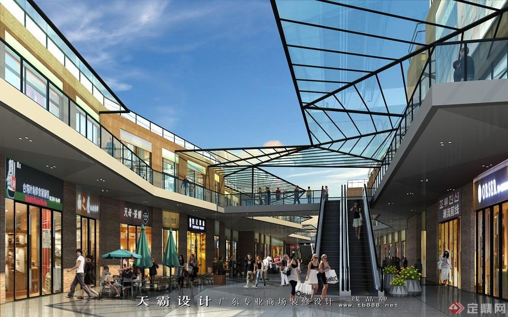 商业街设计效果图案例:惠州汇港城商业街设计效果图