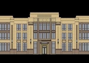 售楼处详细多层建筑设计SU(草图大师)模型