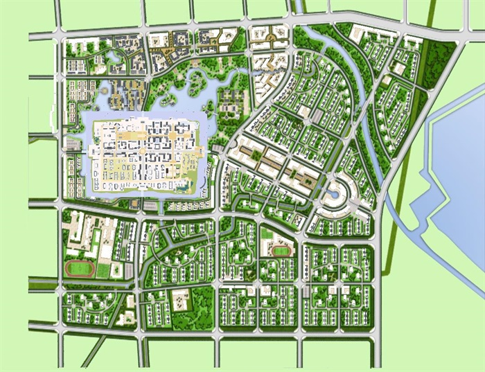 古城旅游开发改造规划设计方案su模型[原创]