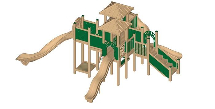 20个幼儿园或小区儿童活动区游乐设施su模型[原创]