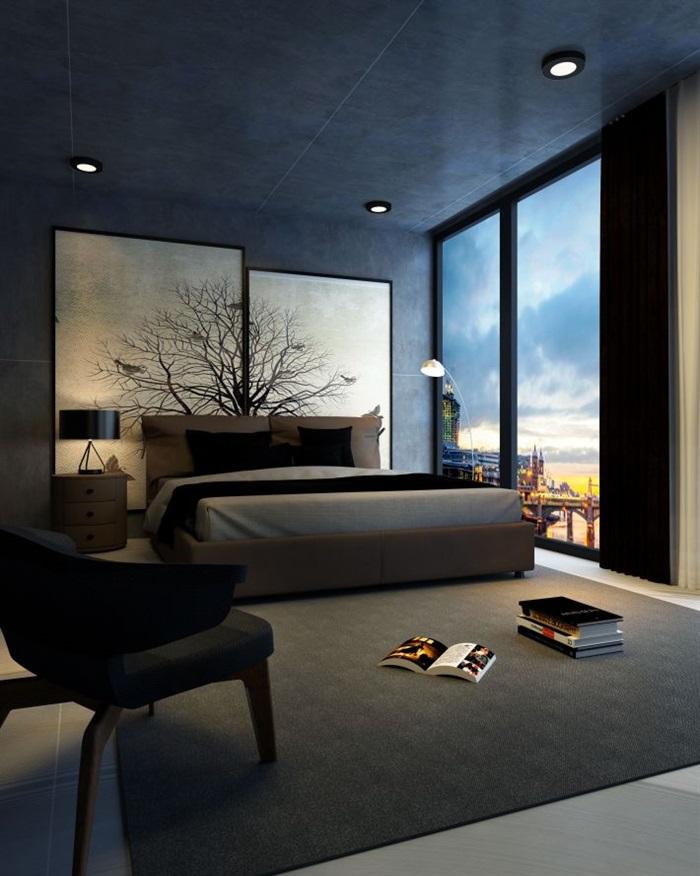 工业风卧室家装方案SU模型2017版本