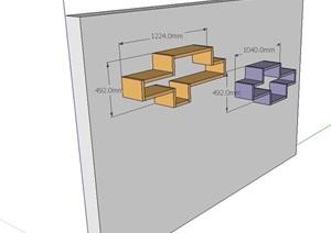 墙柜素材详细设计SU(草图大师)模型