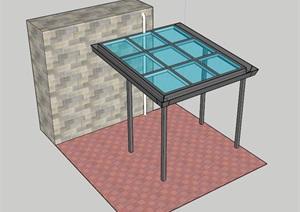 五毛阳光遮雨棚设计SU(草图大师)模型