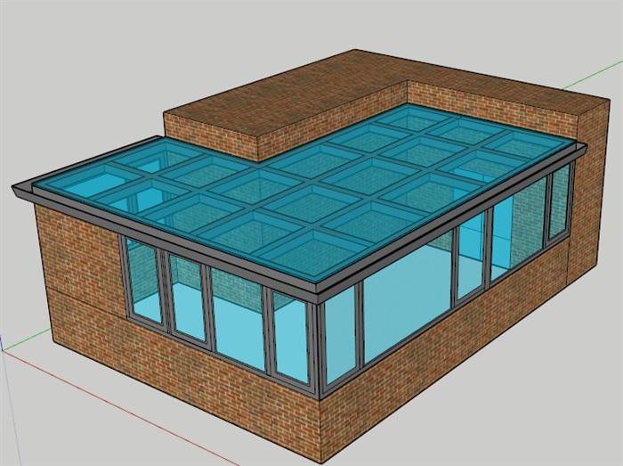 四个阳光房素材设计su模型[原创]