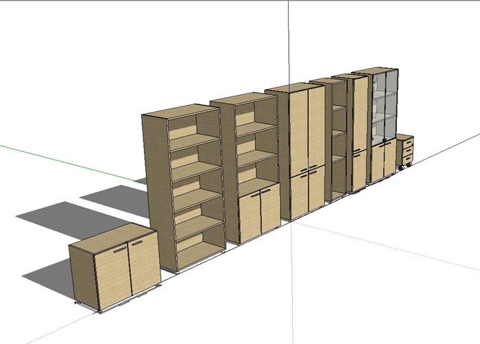某室内详细的储物柜税目设计su素材[原创]广告设计与制作模型图片