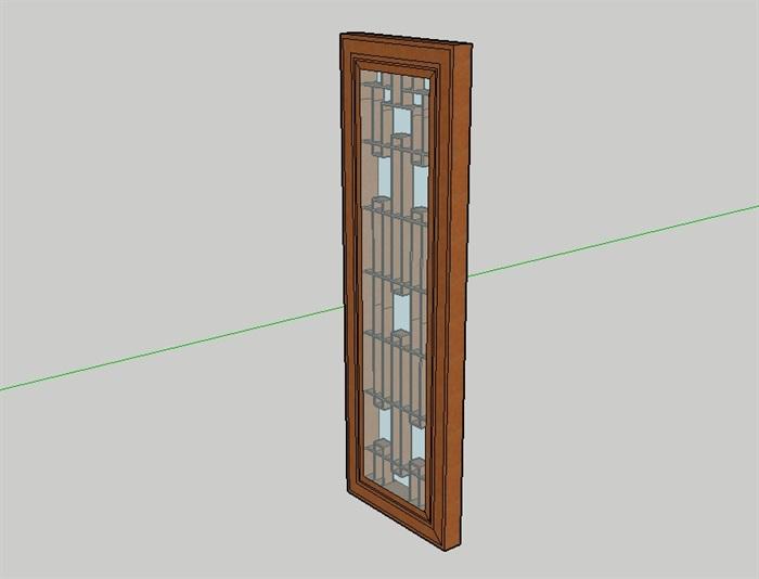 中式门素材设计su模型(3)