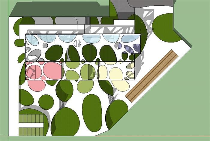 创意幼儿园建筑方案su模型[原创]