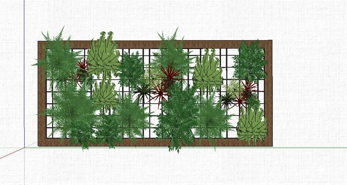 垂直绿化架素材设计su模型