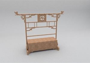 中式木柜独特造型设计SU(草图大师)模型