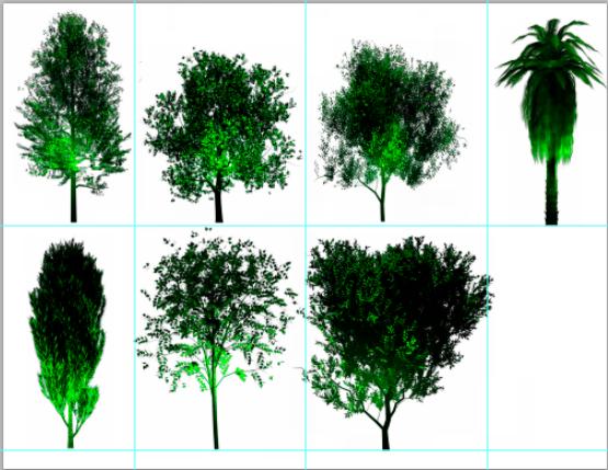 灯光效果景观树木psd素材