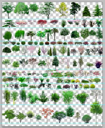植物配景素材设计psd图