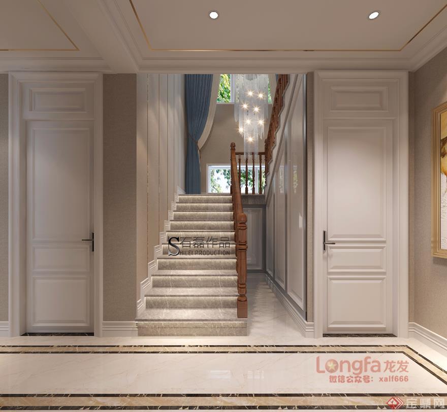 楼梯 现代欧式风格 装修效果图 曲江香都 复式