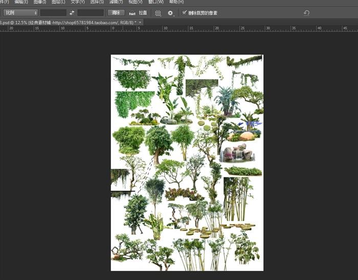 多种不同的景观植物素材psd图(1)