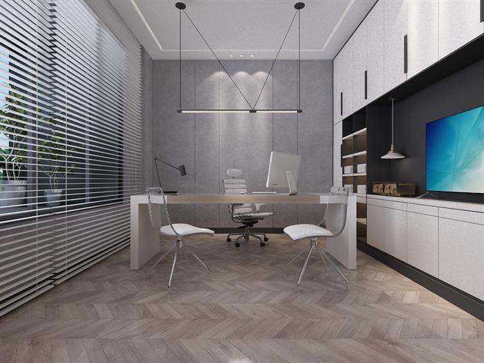 总经理办公室室内空间设计3d模型