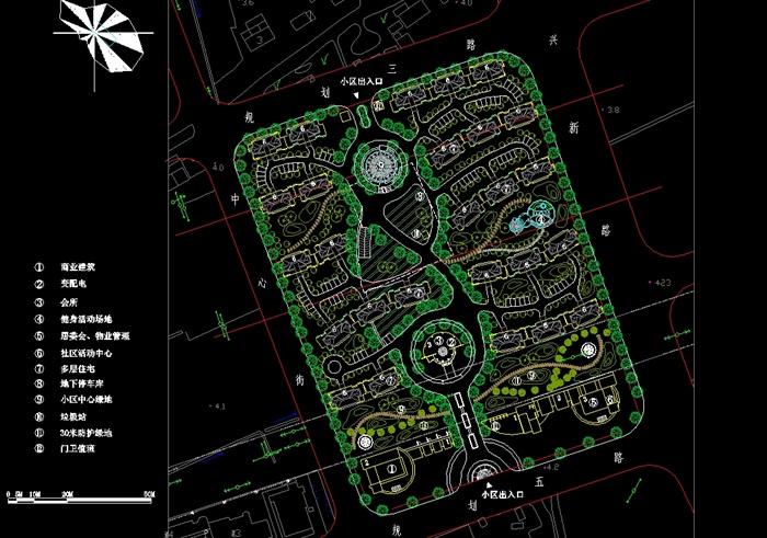 上海金山小区详细规划设计cad平面图[原创]图片