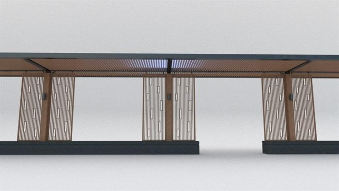 现代中式廊架素材设计su模型[原创]