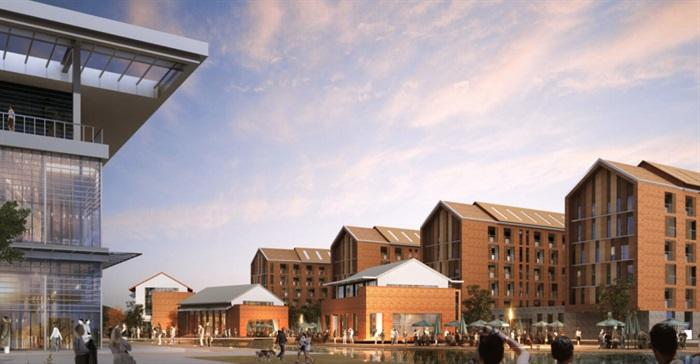 某现代风格完整的学校建筑su模型及效果图[原创]图片