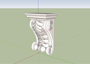 26种不同的欧式柱子素材设计SU(草图大师)模型