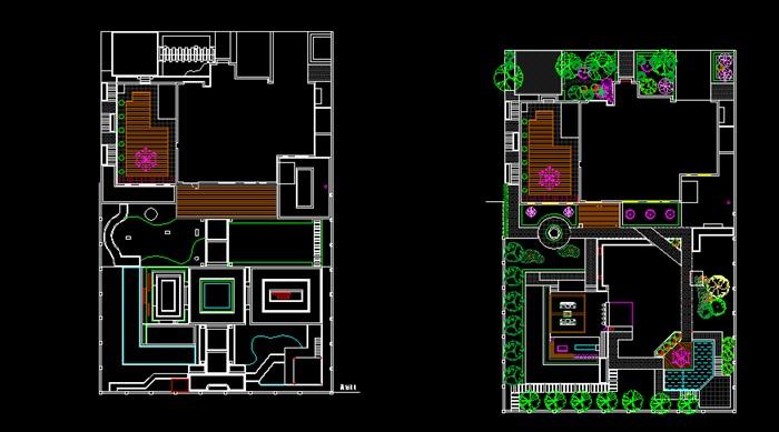 别墅详细庭院景观素材设计cad方案[原创]