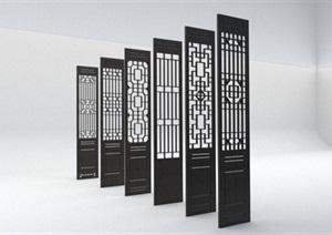 6款中式花窗详细设计SU(草图大师)模型