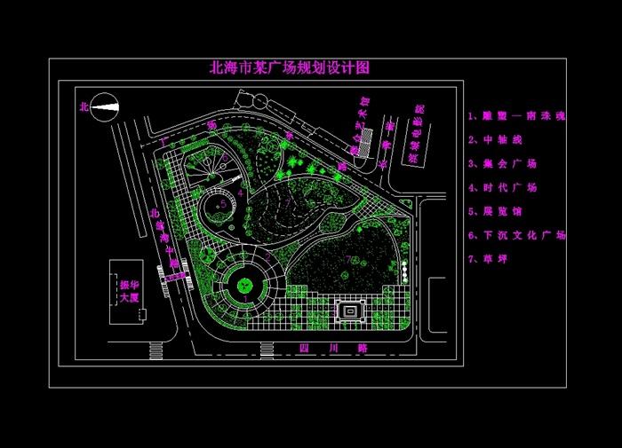 某现代详细广场规划设计cad图纸[原创]图片