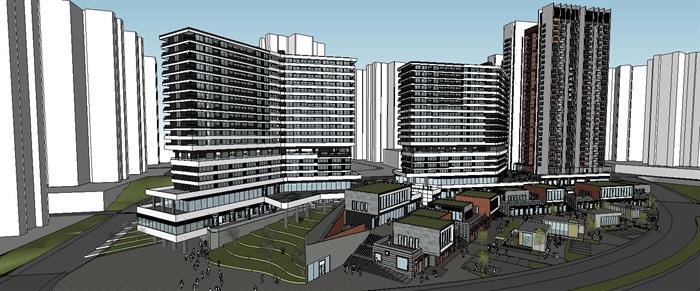 高层住宅写字办公楼附属商业综合体(2)