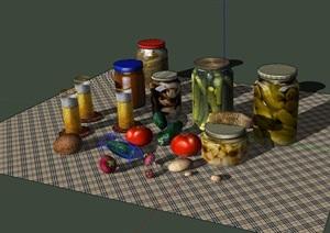 食物罐头设计SU(草图大师)模型