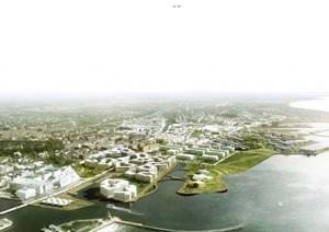 某现代风格滨海城市规划设计pdf方案