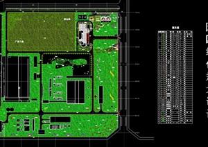 某厂区环境绿化设计cad方案图