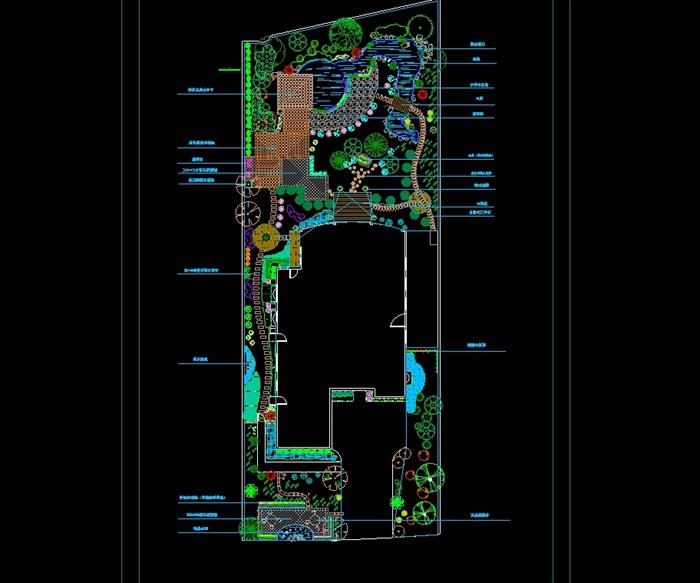 庭院别墅景观设计cad平面图[原创]门广州大门别墅图片