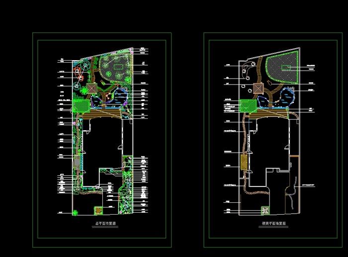 图纸流水景观设计cad平面图[原创]别墅别墅cad庭院图片