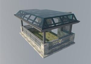 阳光顶棚遮雨棚设计SU(草图大师)模型
