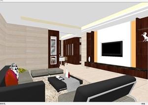 现代简约风格室内户型家装SU(草图大师)模型