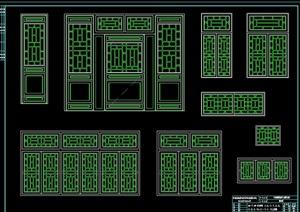 四合院门窗设计cad方案详图