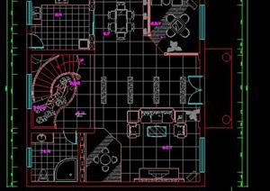 宁波三层别墅室内装修施工图