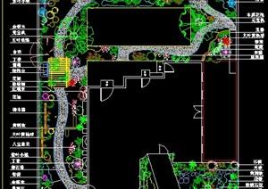 高级私家花园景观平面图