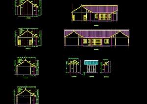 四合院详细完整建筑设计cad方案