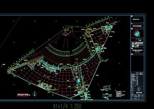 青海西宁市城市中心广场建筑设计cad施工图