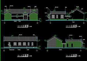 四合院住宅建筑设计cad方案图