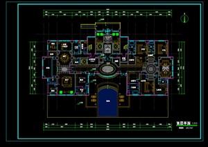 豪宅住宅详细设计cad方案平面