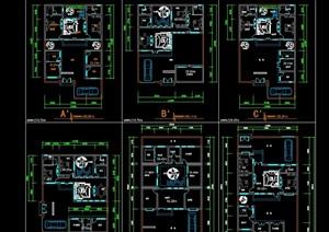 新版四合院建筑cad方案图