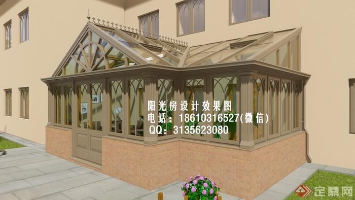 d1500欧式阳光房设计效果图(幅)