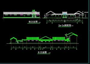 四合院住宅建筑设计cad施工图