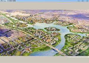 某市东西丽湖总体规划及城市设计jpg方案