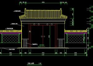 古建大门全套施工图