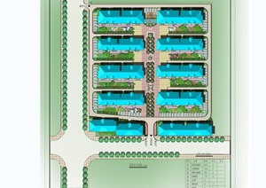 现代住宅小区规划cad方案带效果图